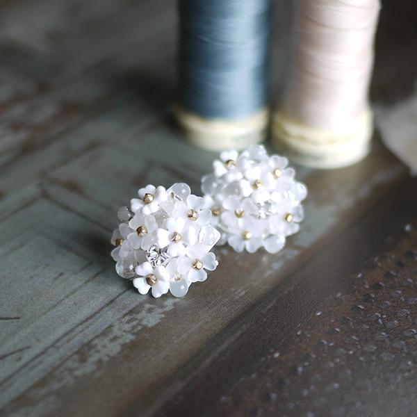 ビーズ刺繍体験作品